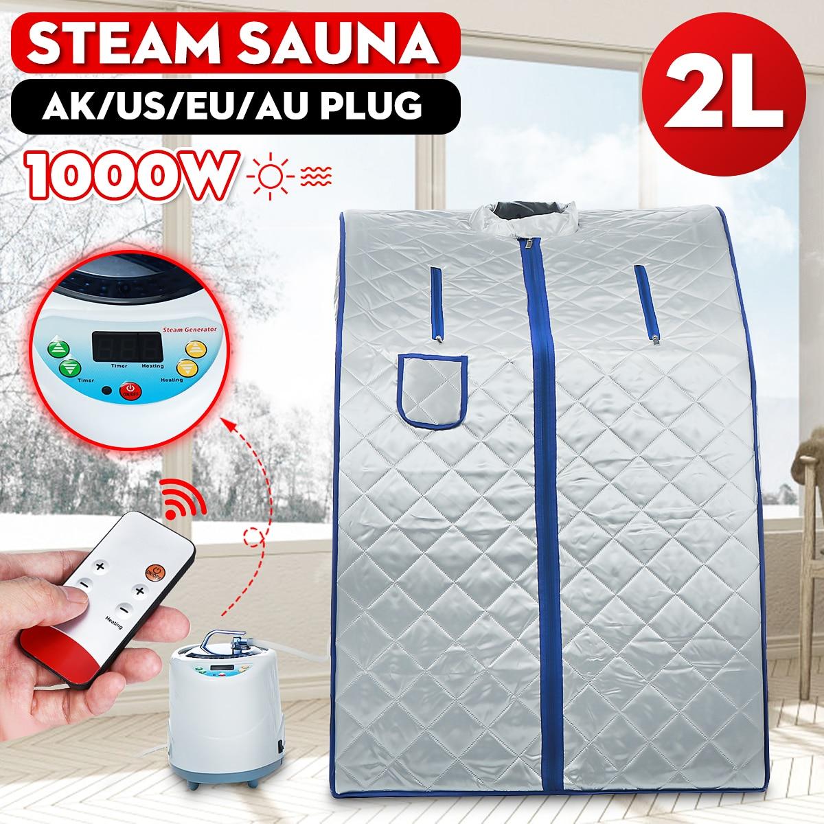 Sauna de vapor portátil, hogar, Sauna, generador de adelgazamiento, caja de Sauna doméstica, facilidad de insomnio, soporte de tubería de acero inoxidable