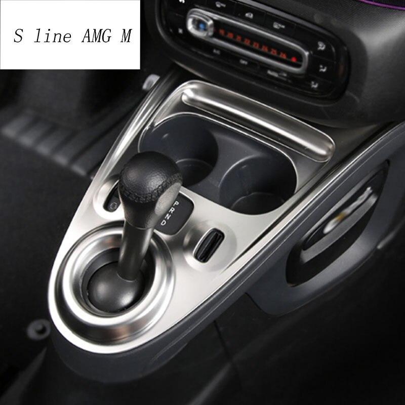 Revestimento adesivo de controle remoto, equipamento para mercedes benz smart 453 fortwo com painel adesivo de controle central