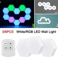 new pattern hexagon led wall light modular honeycomb remote control dimmable lamps night light for bedroom %d1%81%d0%b2%d0%b5%d1%82%d0%b8%d0%bb%d1%8c%d0%bd%d0%b8%d0%ba dropship