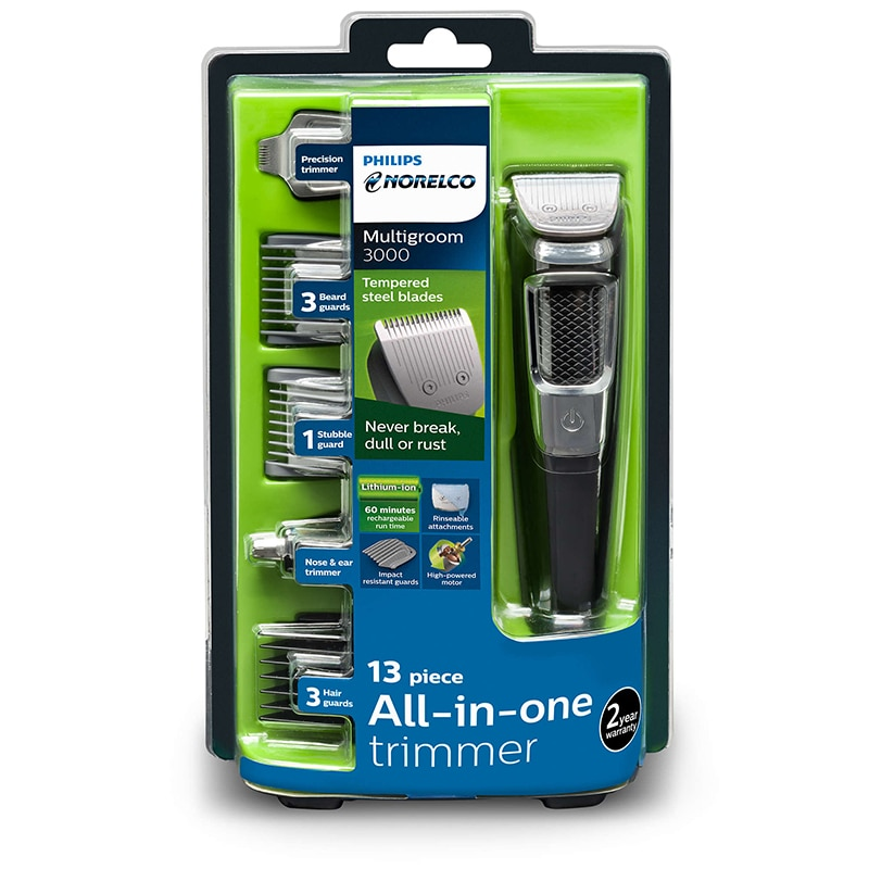 Philips Norelco Multigroom Series 3000 Multipurpose Electric Shaver MG3750 / 60,13 Piece All-in-one Trimmer Men's Rechargeable enlarge