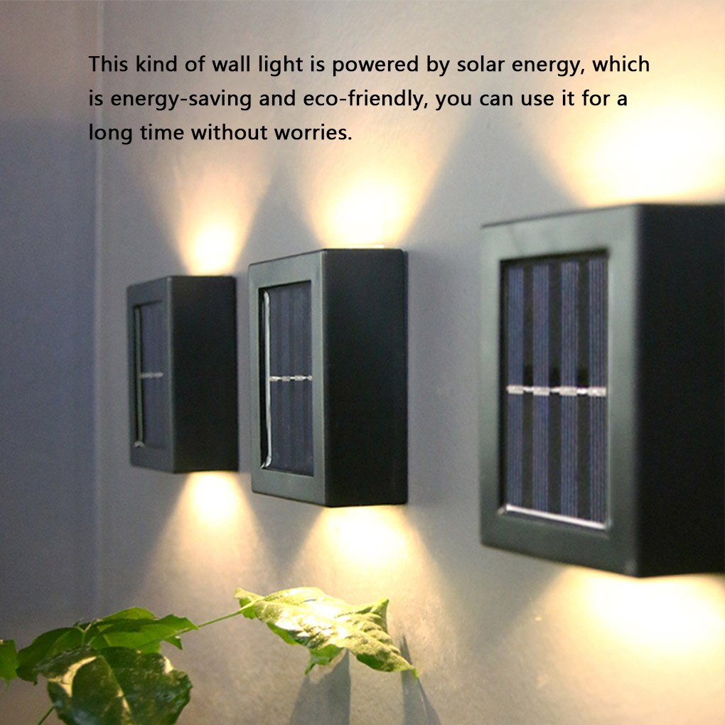 luminaria de parede iluminacao movida a energia solar lampada de parede decorativa
