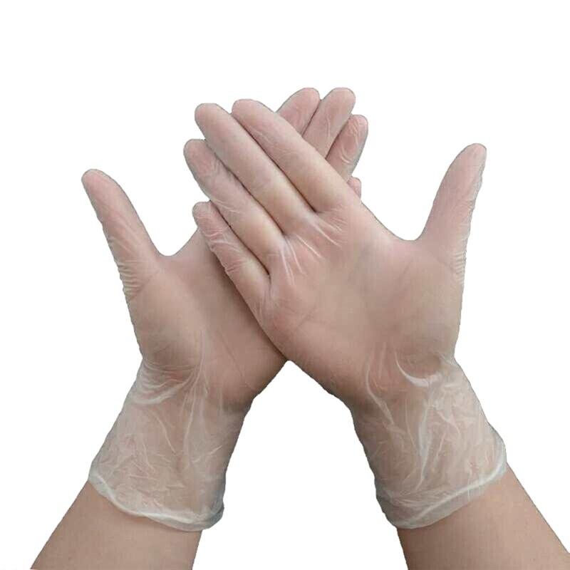 100PCS Disposable Plastic Gloves Polythene Boxed Food Prep Food Safe Anti-epidemic gloves