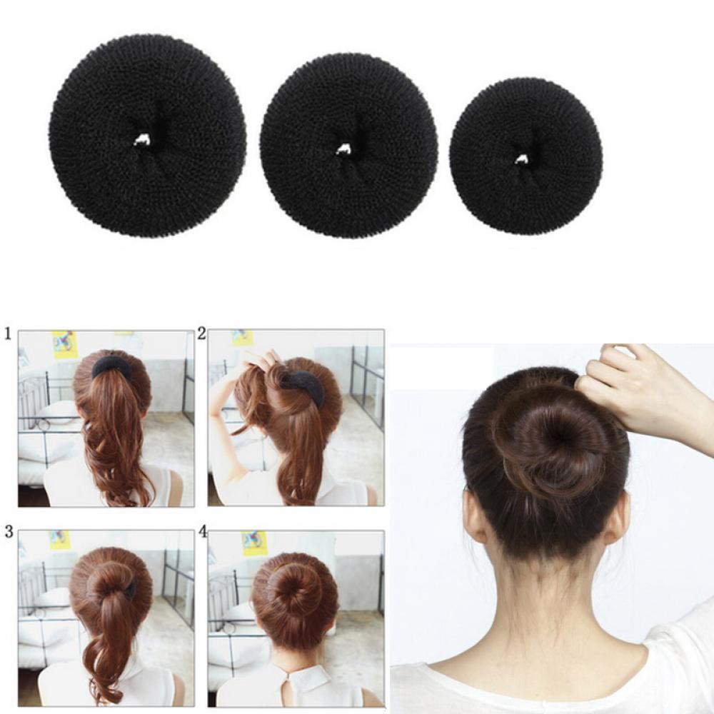 NOVAS Meninas Bonitos Updo Styling Ferramentas Coque Anel Donut Shaper Hair Styling Tools útil Criar para a menina CN livre grátis