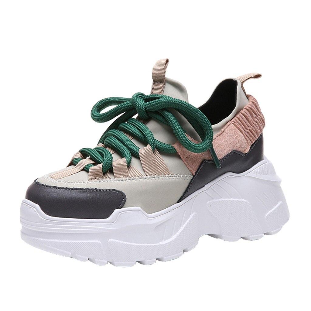 Zapatillas de correr a la moda para mujer, zapatillas de deporte de varios colores, cuñas de plataformas atléticas, zapatos transpirables geniales, zapatos balenciaca W30726