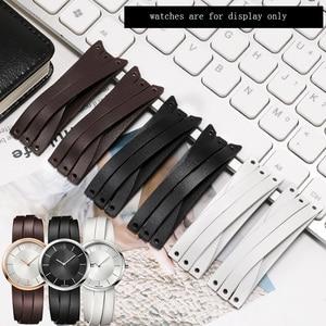20mm Genuine leather strap  white black brown bracelet Replacement belt for K2R2S1 K2R2S6 K2R2M1K6 K2R2M6G6 female watch chain
