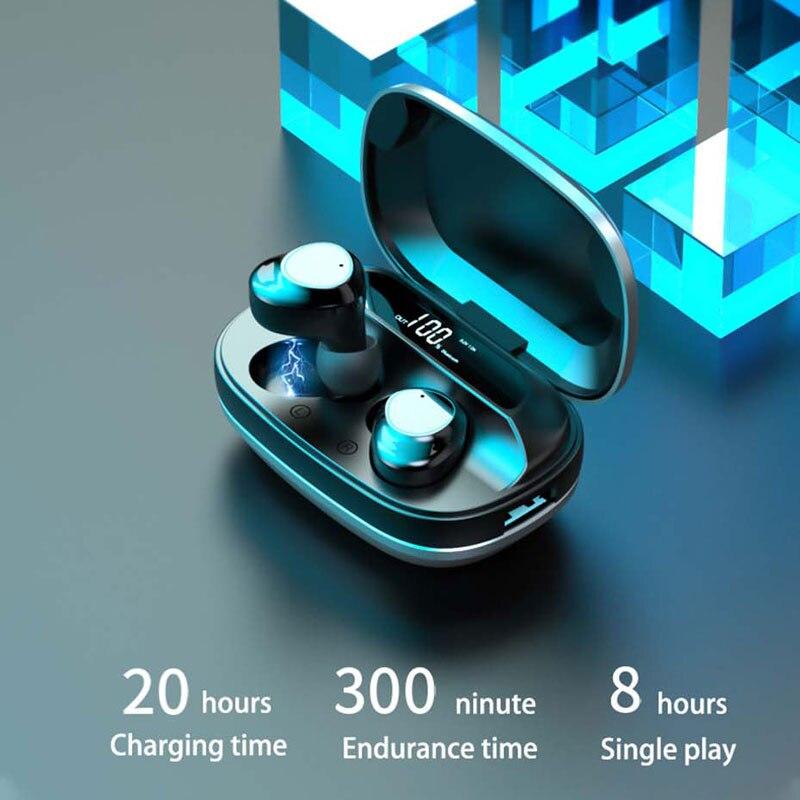 G16 2000mAh Earphone Wireless Bluetooth 5.0 Luxury Headphone 2A Charge for iphone 12 11 samsung xiaomi IPX7 Waterproof Earbuds enlarge