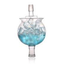 Nieuwe Ontwerp Waterpijpen Glas Ijs Kom Voor Arabische Shisha 1 Set Shisha Ijs Kom Waterpijp Hoofd Fancy Chicha Fit Led art Waterpijp Narguile