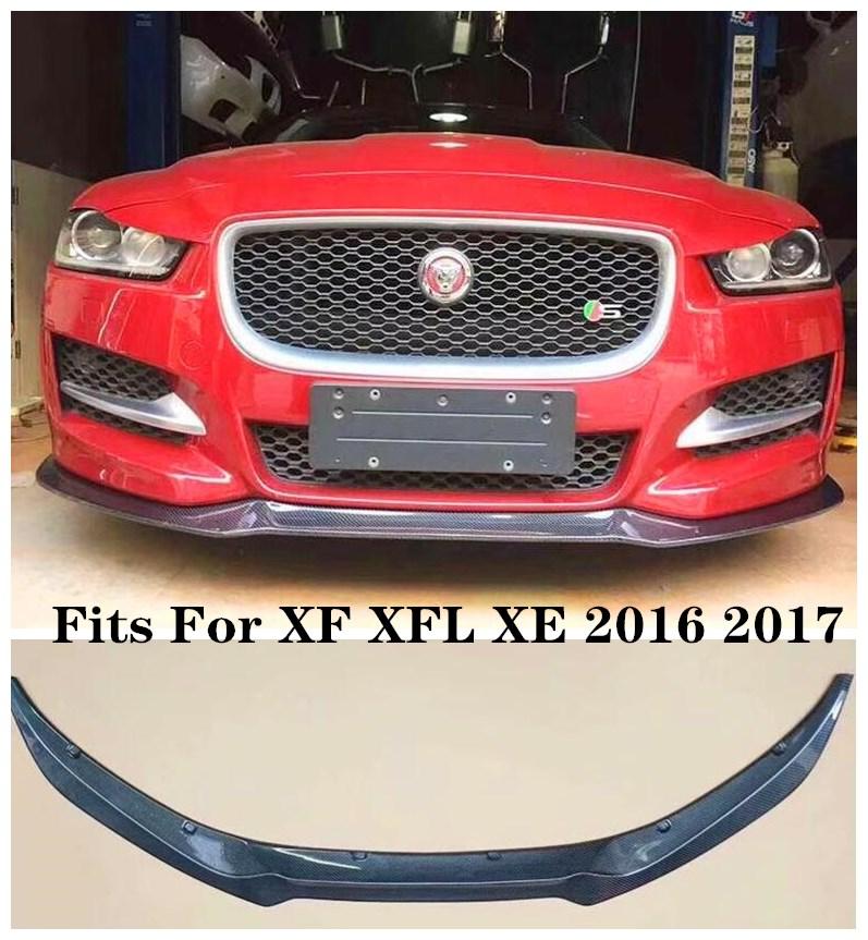 Protector de labios delantero parachoques de fibra de carbono de alta calidad apto para Jaguar XF XFL 2016 2017