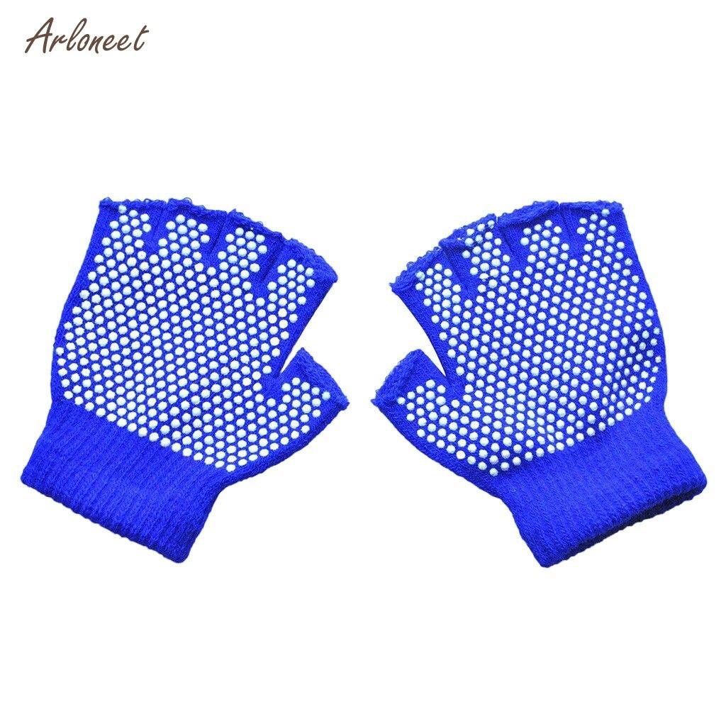Guantes de punto cálidos y fríos para invierno para niños, guantes de punto medio granulado de punto, guantes tejidos antideslizantes, mitones para chicas