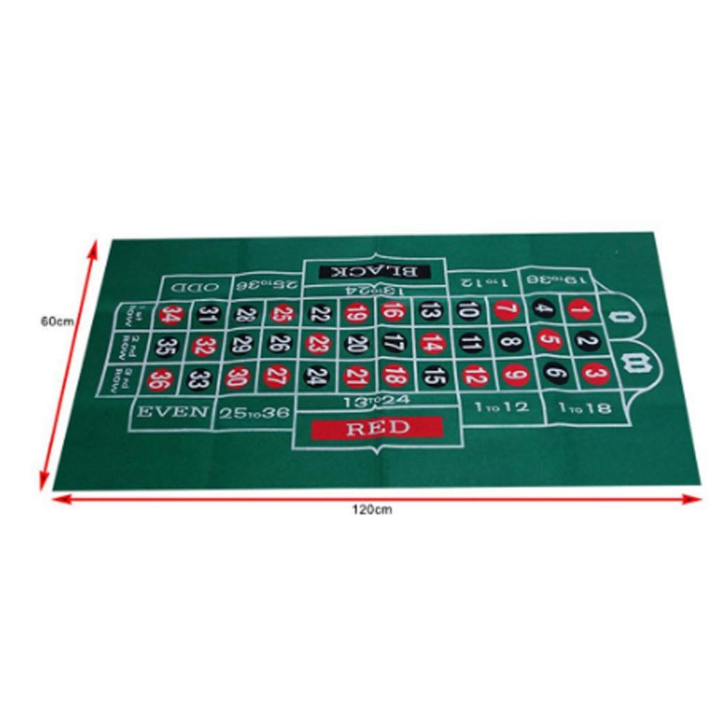 Двусторонний тканевый коврик для игры в рулетку, казино, стол, скатерть, аксессуары для игр, 24X47-2