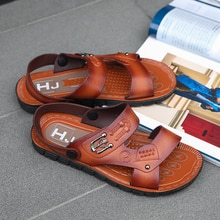 Top Quality Sandal Men Sandals Summer Genuine Leather Sandals Men Outdoor Shoes Men Leather Sandals Plus Size 39-44