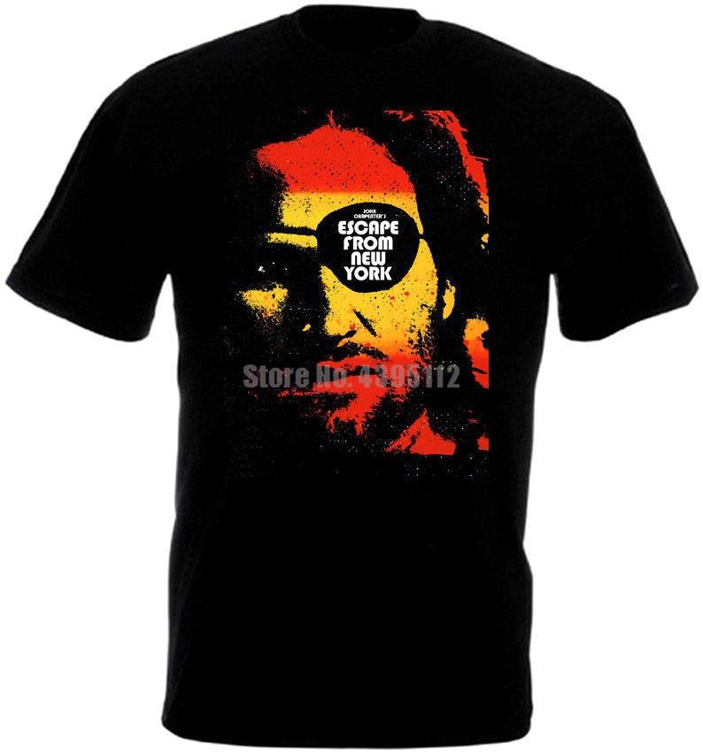 Escape de Nueva York Cartel de la película camisetas Unisex camisetas de Polonia camiseta Retro runas camisas Descuentos Venta Zvgytv