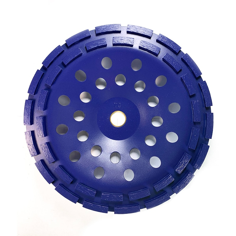 Blue 230MM Diamond Cup Grinding Wheel Grinding Wheel Double-Row Abrasive Concrete Stone Grinder Polishing Disc Abrasive Tools