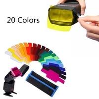 20colorspack flash speedlite color gels filters cards for canon for nikon camera photographic gels filter flash speedlight