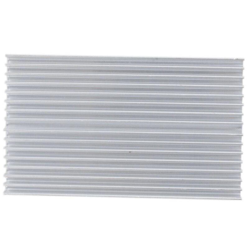 Silver Tone Aluminum Cooler Radiator Heat Sink Heatsink 100x60x10mm