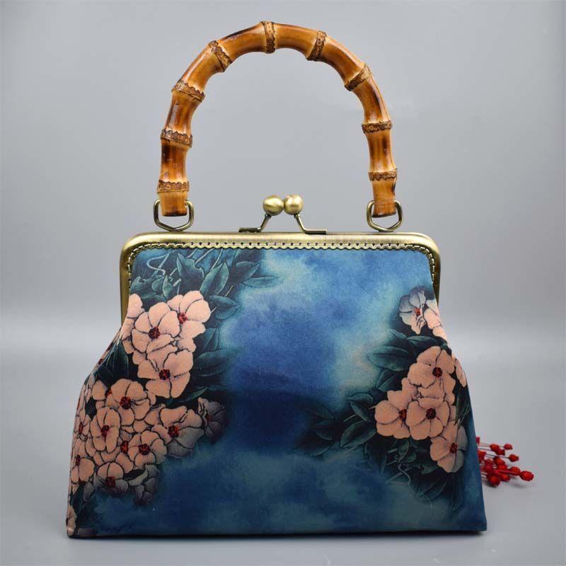 Fashion Vintage Wood Hand Women Bag Bags Shell Lock Chain Women Shoulder Crossbody Bags Tote Women's Handbags Purses free ship