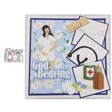 JC Medical Syringe Tools Metal Cutting Dies for Scrapbooking Craft DIY Cut Die Stencil Handmade Greeting Paper Card Make Decor