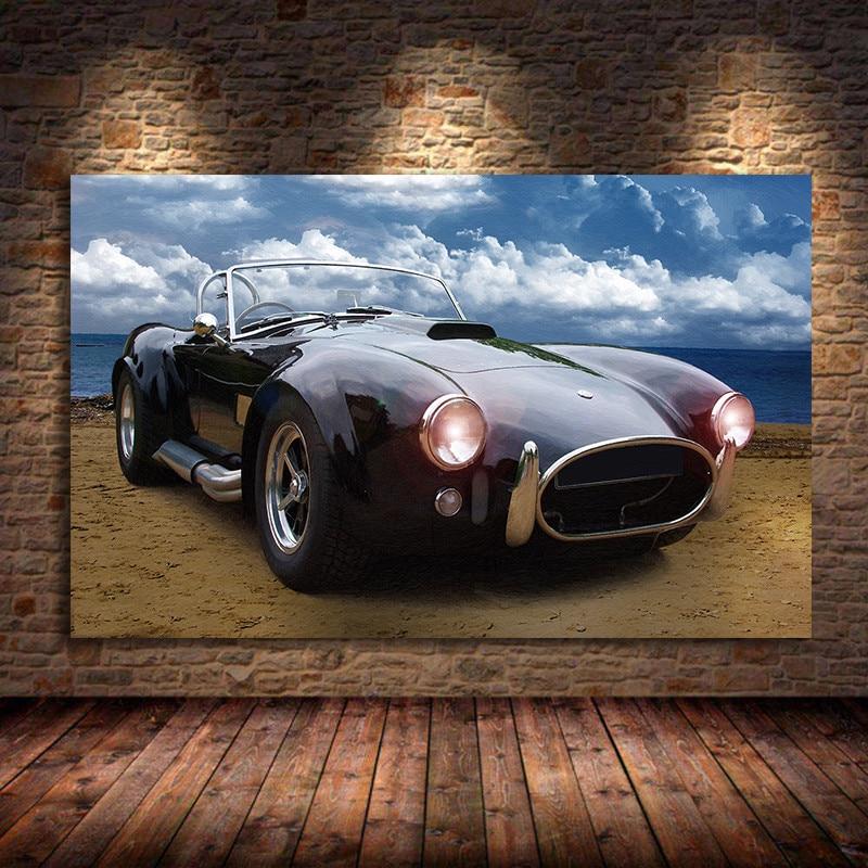 AC Cobra-póster de arte clásico para pared de coche, pósteres de pintura...