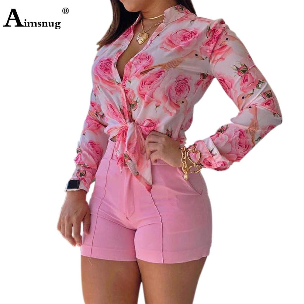 2021 New Summer Ladies Elegant Leisure Blouse Single-breasted Sexy Flower Print Women Top Mandarin Collar Casual Shirt Femme