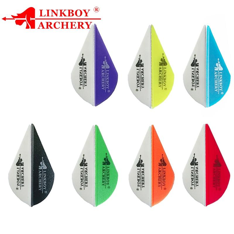 Polegada Plástico Palhetas Palhetas 2 36pcs Linkboy tiro com arco Setas Penas para Flechas De Carbono ID6.2mm Caça Acessórios