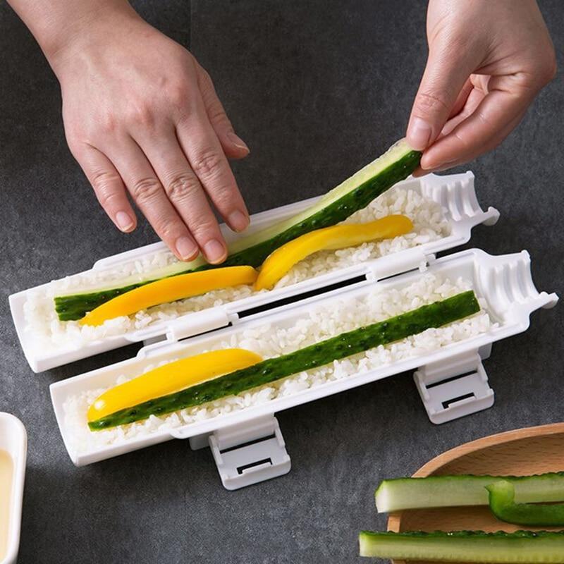 الإفطار صانع قالب اليابانية وجبة خفيفة الأطعمة لفة أدوات مطبخ الأرز بازوكا الخضار اللحوم المتداول السوشي ماكينة أونيجيري