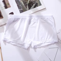 men ice silk underwear transparent boxer breathable solid color ultra thin transparent quick drying sexy silk boxer