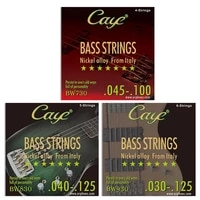 caye electric bass strings 456pcsset string gauge 045 100 040 125 030 125 nickel alloy wound basses part accessories