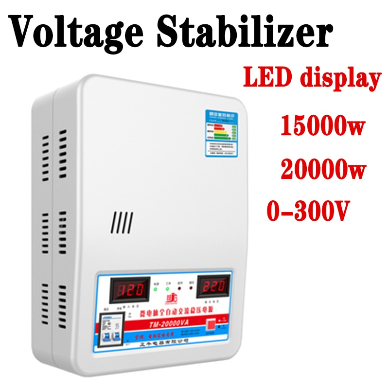 15KVa استقرار الجهد مع مدخلات الجهد 120 فولت-270 فولت الناتج 220 فولت المنزلية التلقائي استقرت امدادات الطاقة أداة TM-15000VA