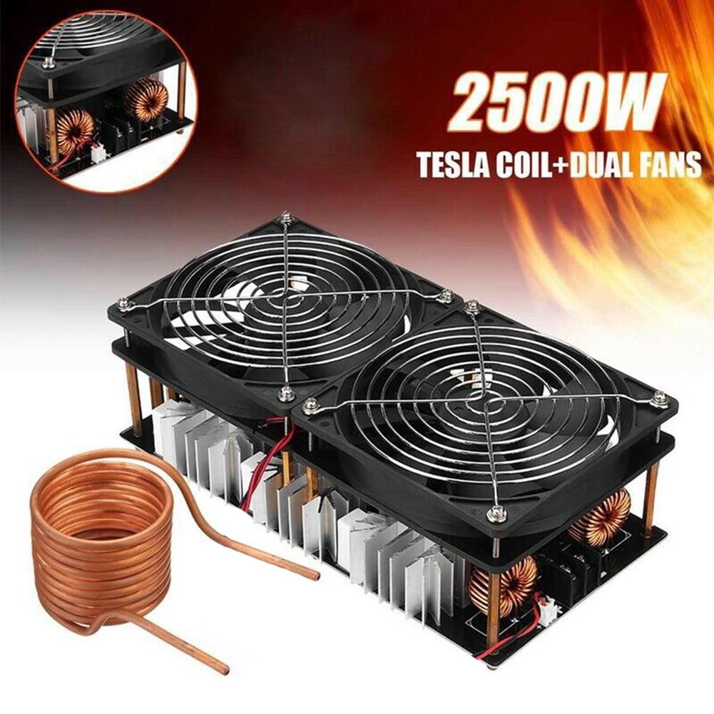 12-48V 2500W ZVS alta bobina de frecuencia Flyback controlador placa PCB calentador de inducción electrónico duradero DIY reemplazo