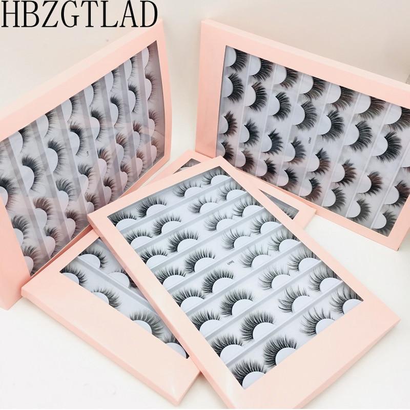 ¡Nuevo! 16 pares de pestañas de visón 3D pestañas postizas entrecruzado grueso maquillaje extensión de pestañas volumen Natural pestañas postizas suaves