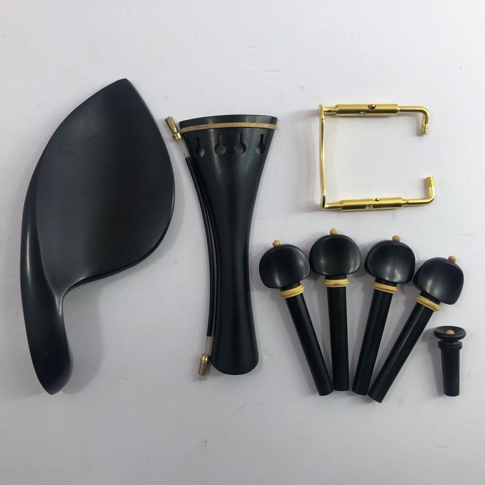4 / 4 струны для скрипки, высококлассное черное дерево, инкрустированное самшит, струна для скрипки с пряжкой, набор из 4 шт.
