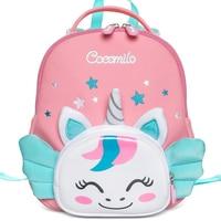 Cocomilo Brand Kids 3D Cartoon Unicorn School Bags for 2-5 Years Children Gifts Kindergarte Girls Boys Animal Schoolbag Backpack