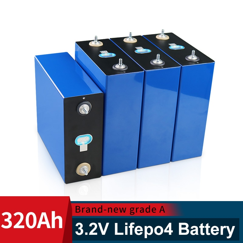 3.2V 310AH cells BRAND NEW 48V Lifepo4 320AH battery Grade A DIY 12V 24V Rechargeable Battery Pack EU US Tax Free With Busbars