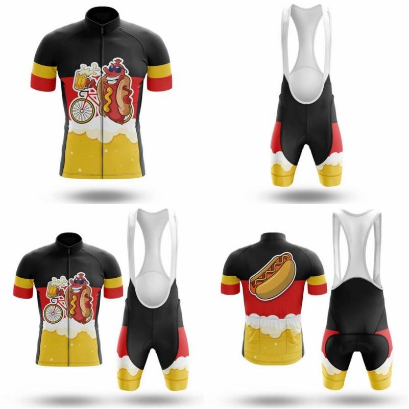 Conjunto de Jersey de Ciclismo de marca, ropa de bicicleta de manga...