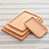 beech wooden food tray rectangle round tea trays household wood plate coffee table decor cake dishes storage tray