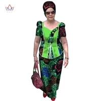 summer new african suits for women cotton short sleeve african clothes skirt set plus size african clothing traditional wy3202