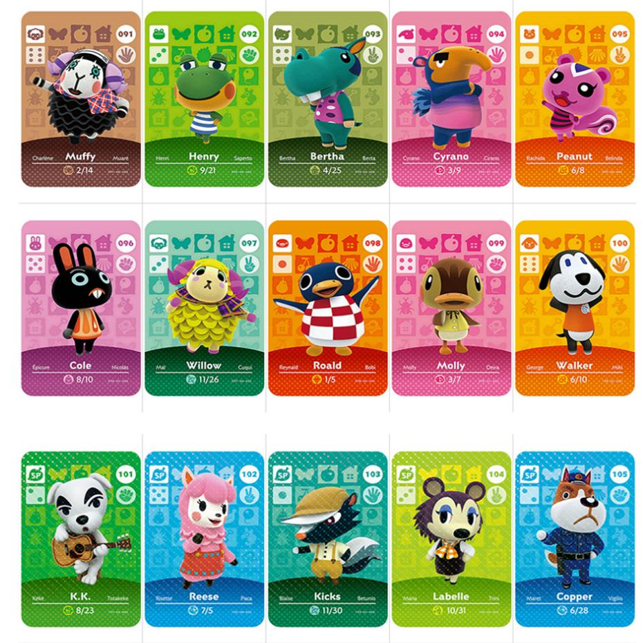 Serie 2 (091 A 117), tarjeta de Cruce de Animales, tarjeta Amiibo para juegos en 3D de NS, Nuevos Horizontes, tarjeta de móvil de Torre Blanca, Muffy, Roald Villager