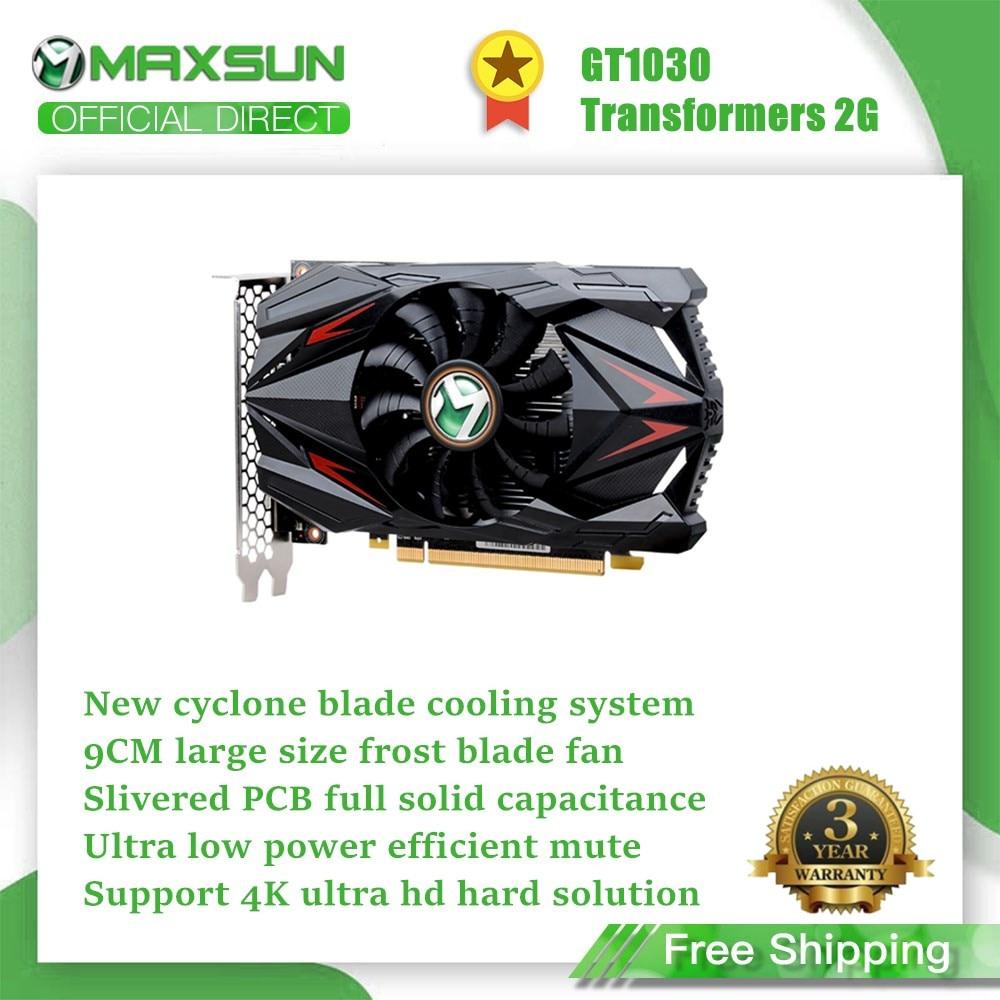 Maxsun GeForce GT 1030 2G Graphic Card GDDR5 Nvidia GPU Desktop Video Card Gaming DVI PWB intelligen