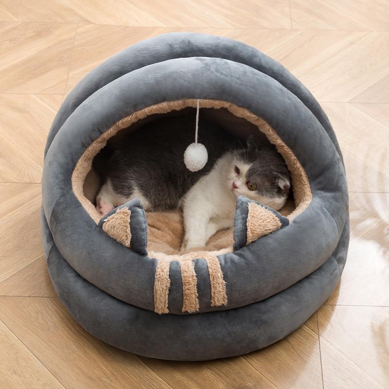 Cama para Gatos, caseta de sofá de Caseta de perros pequeños, cojín...