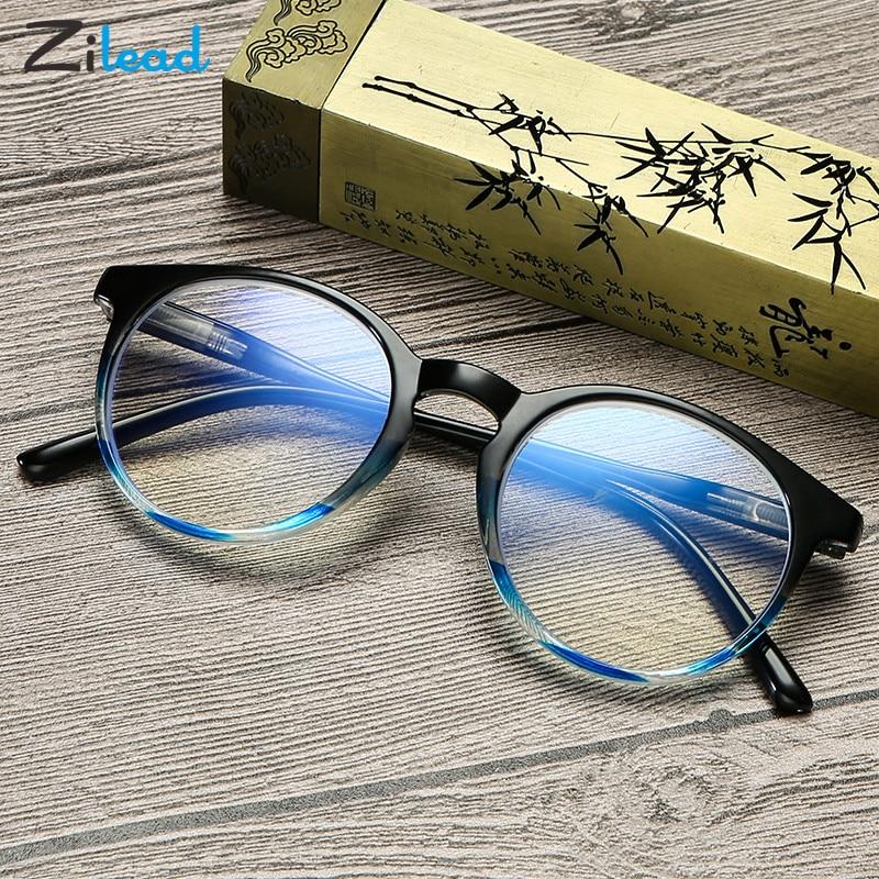 Zilead, круглые очки с защитой от синего цвета, модный весенний светильник для глаз и удобные портативные очки для чтения