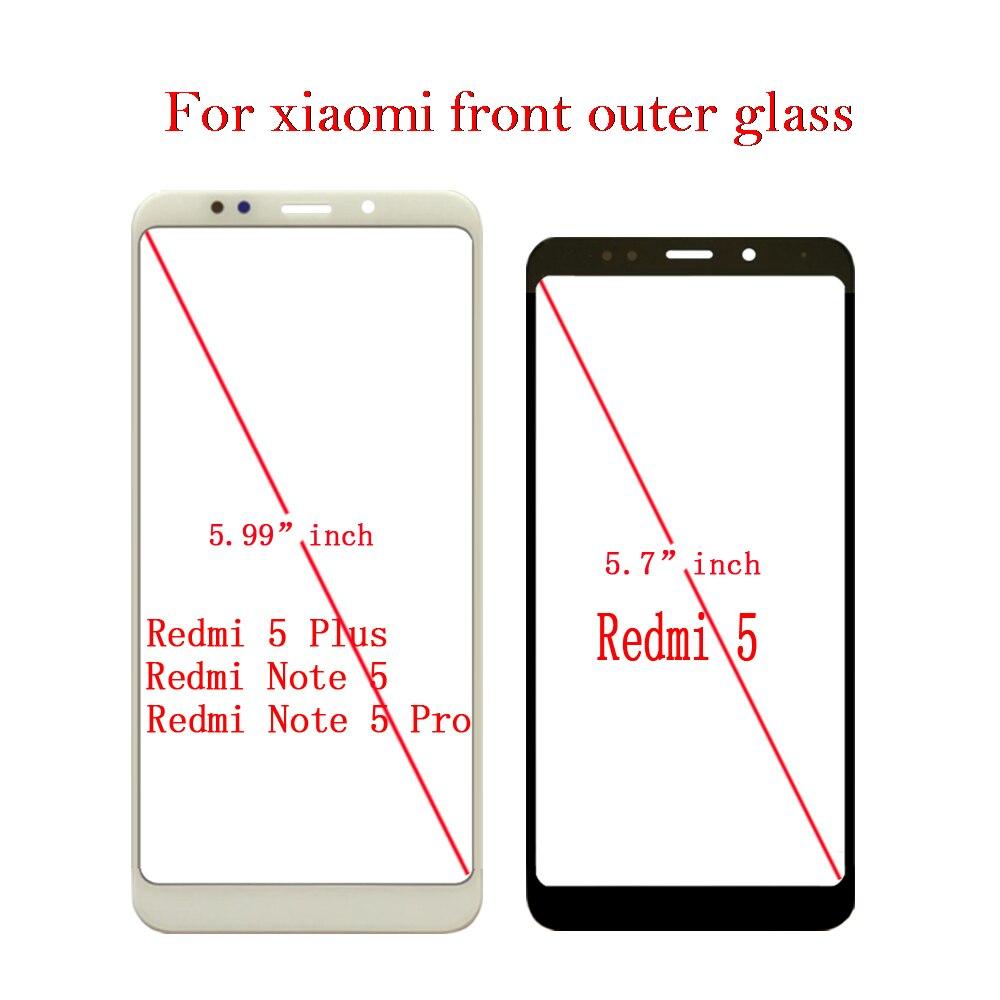 Frontale In Vetro Esterno Per Xiaomi Redmi 5 Redmi 5 Più Redmi Nota 5 Redmi Nota 5 Pro Touch Screen A CRISTALLI LIQUIDI vetro di schermo di Ricambio