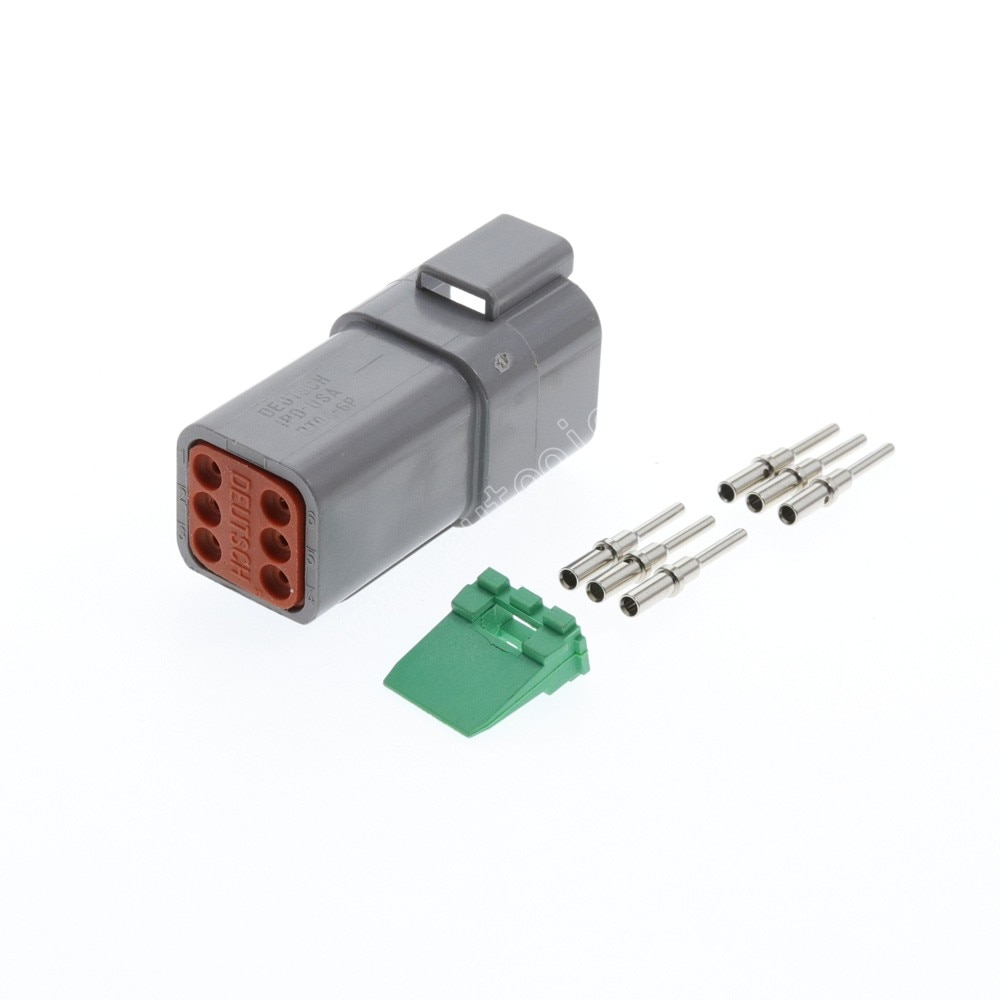 100 kits deutsch dt serie 6 way plug kit conector dt04 6p plug montagem pinos wedglock