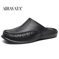 airavata mens slippers flat shoes loafers go with everything fashion sandal breathable casual home daily sizes 40 47