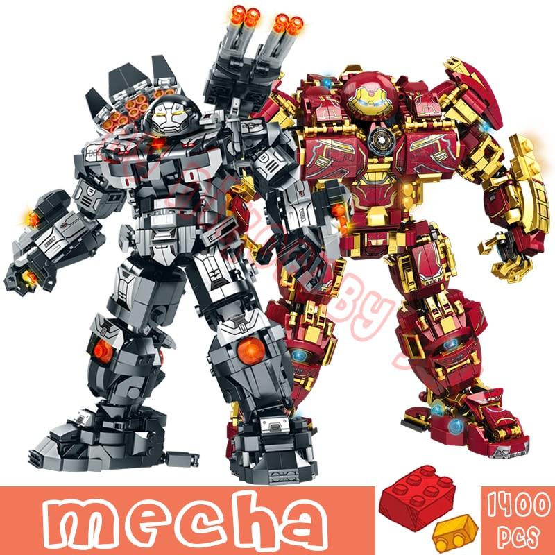 1400 + шт войны супер панцирь робот конструкторных блоков, Детские кубики военных героев меха цифры оружие Модель игрушки для детей с персонаж...