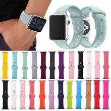 19 farben Silikon Handgelenk Strap Band Armband Ersatz für Apple Uhr iWatch Serie 5/4/3/2 /1 38MM 42MM