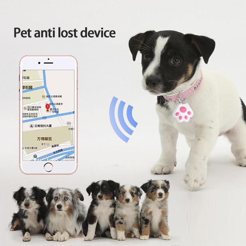 Умный трекер для домашних животных, устройство защиты от потери, устройство тревоги, устройство тревоги в виде собачьей лапы, Bluetooth-совмести...