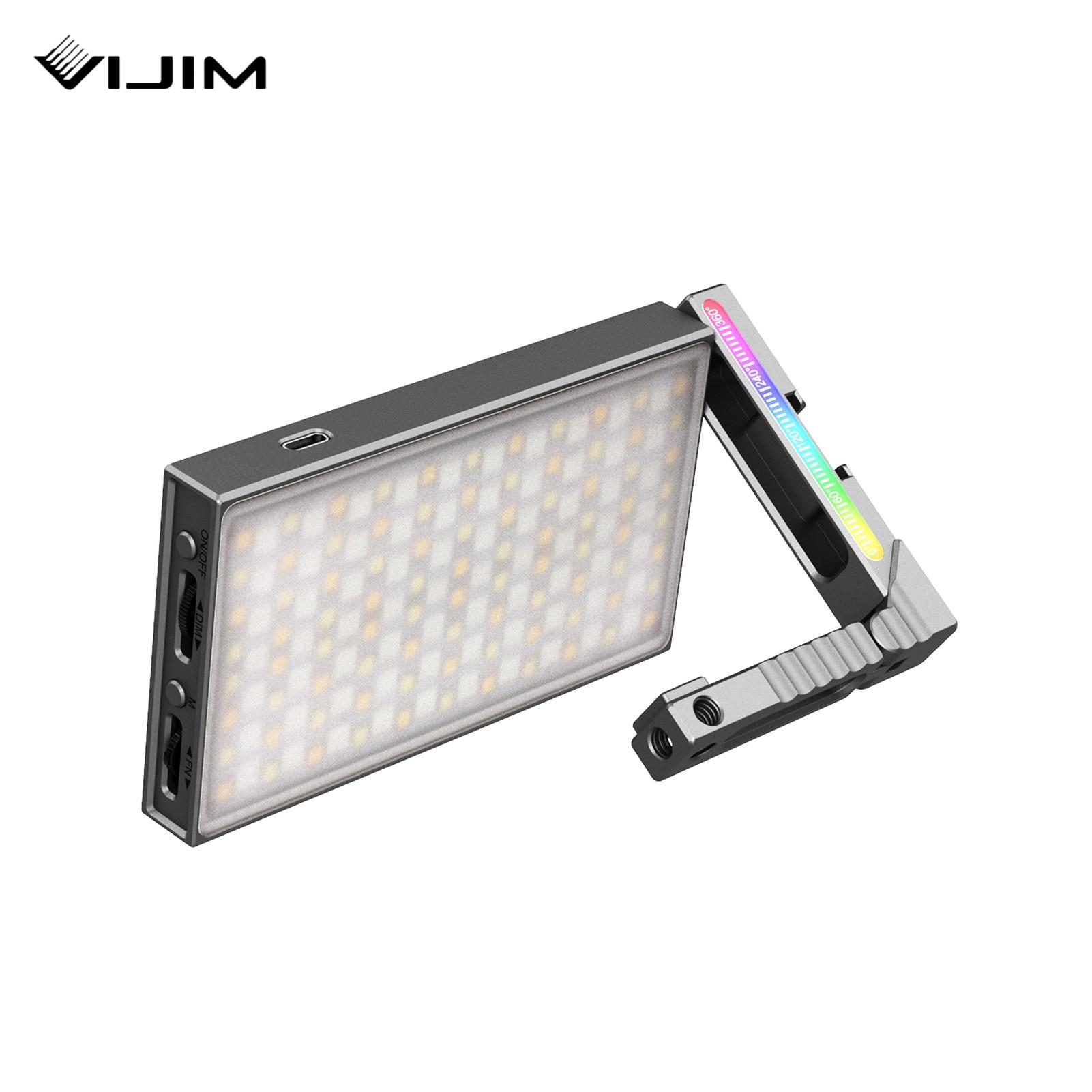 Efeitos de Luz para Iluminação Cri95 + 20 Luz de Vídeo Vijim Vídeo 360 ° Cor Cheia Lâmpada 8w 2700-8500k Pode Ser Escurecido Rgb Led Luz