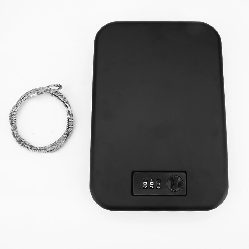 Password Safes Storage Box Portable Gun Safes Valuables Money Car Safebox Jewelry Security Strongbox Cold-rolled Steel Sheet