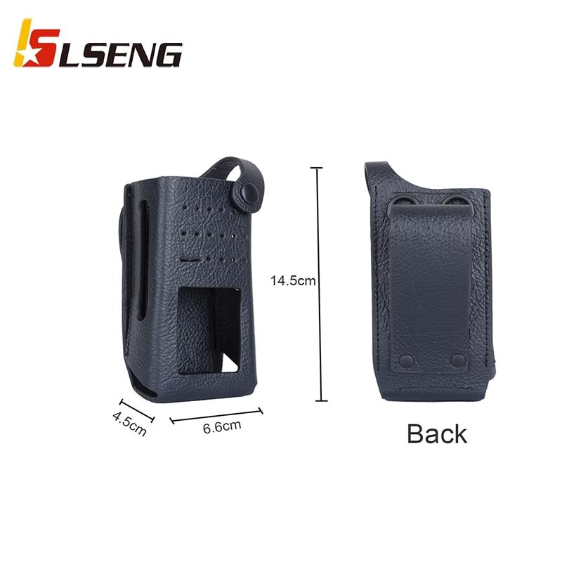 Жесткий кожаный чехол LSENG для уличной рации чехол подходит для Motorola MTP3150 GP338D XIR P8668 чехол для портативной рации
