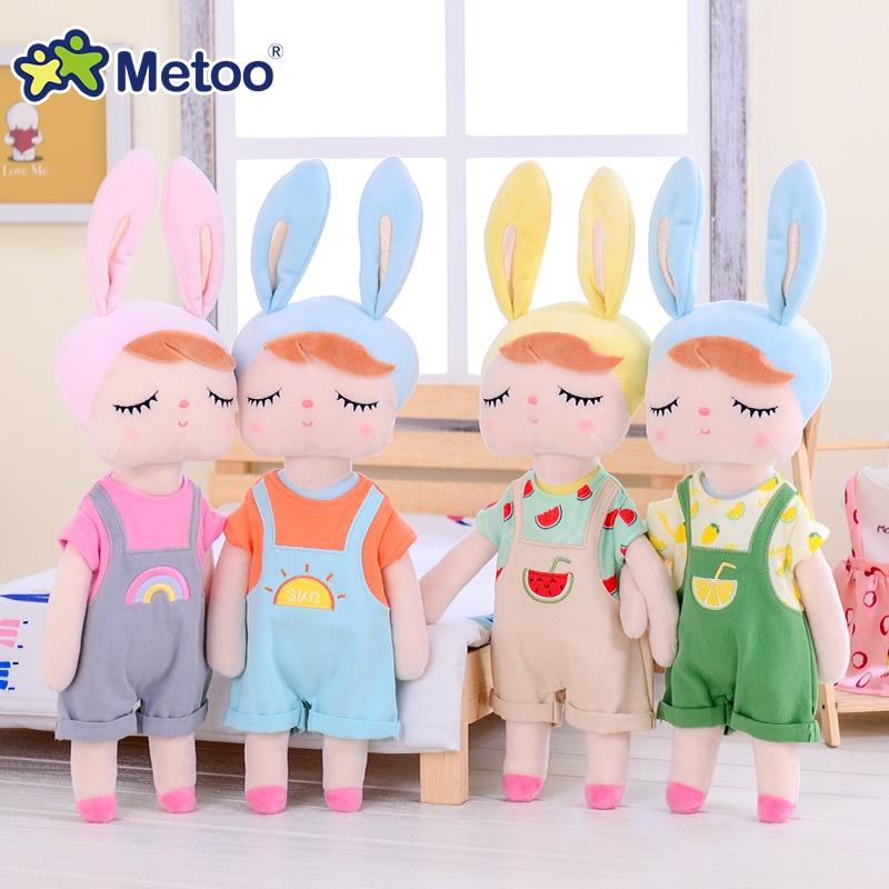 with opp bag Metoo angela backpack Gift high quality Sweet Cute koala rabbit plush doll for kids panda butterfly bee poupee deer